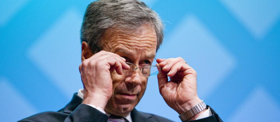 Er du spent på hva sentralbanksjef Øystein Olsen gjør med renten i morgen?  Foto: PER ERVLAND