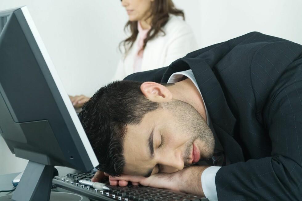 Er det slik du føler deg mandag morgen? Foto: Colourbox