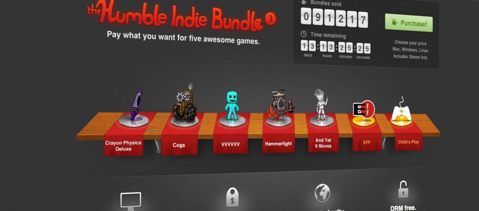 Hvor mye er du villig til å gi for disse fem spillene? Du bestemmer prisen.