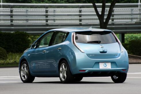 <strong>KAN HURTIGLADES:</strong> Nissan Leaf er en av flere nyere el-biler som kan lades på 15-20 minutter.
