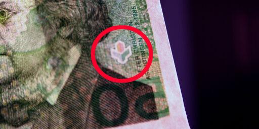 image: Slik ser du om sedlene er ekte