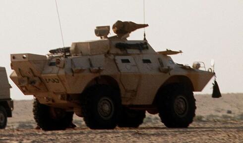 LITT MER BESKJEDEN: Cadillac Gage V-150 kommandokjøretøy, her i Saudi-Arabia.