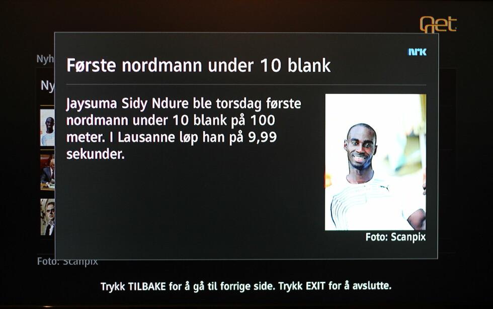 VAR DET ALT? Slik ser nyhetene levert av NRK ut. De kunne like gjerne vært levert av en mediefagsklasse på ungdomsskolen. Dette er tynne greier. Foto: Øivind Idsø
