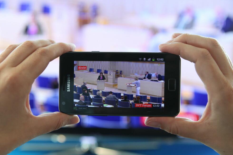 Appen som gjør smart-mobilen din til en ekstra TV, er sluppet i dag. Og ja; den er gratis. Foto: Samsung