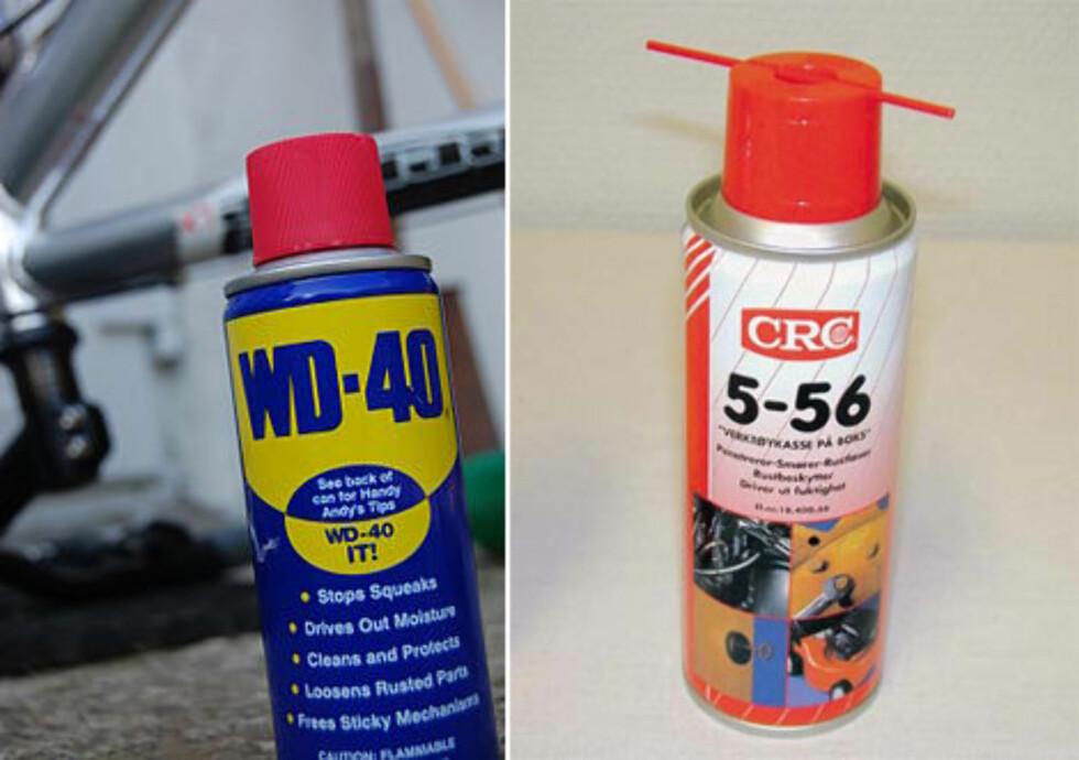 Spray som fjerner fukt og smører Foto: Produsenten
