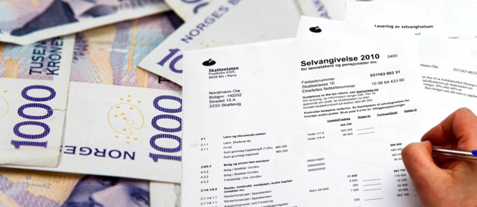 Flere nordmenn får penger tilbake fra Skatteetaten i år enn i fjor. Foto: Per Ervland/Kim Jansson