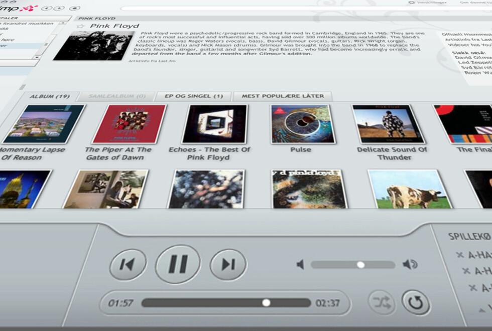 Applikasjoner som er bygd på Adobe Air kan snart bli historie i Linux. Her: Musikktjenesten WiMP.