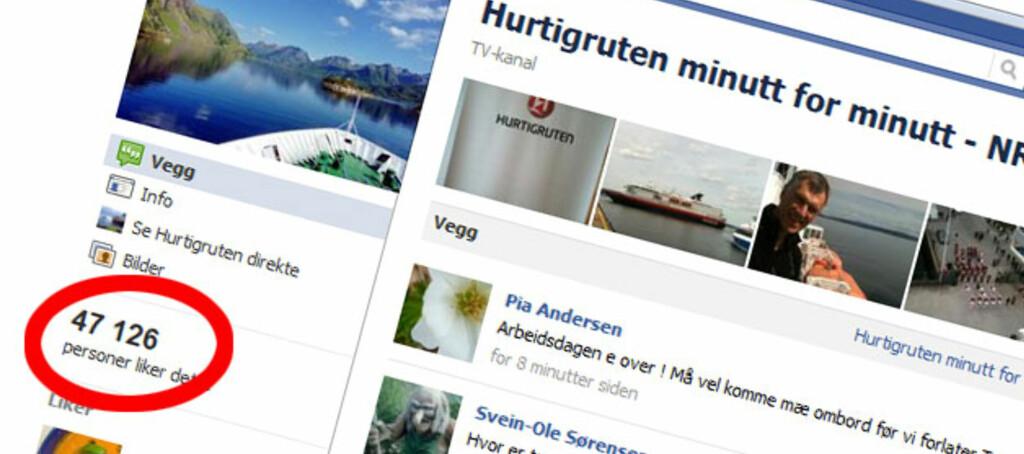 <strong>MANGE FANS:</strong> NRKs nettsider om sendingen har på rekordtid fått en stor mengde følgere, og tallet stiger raskt.
