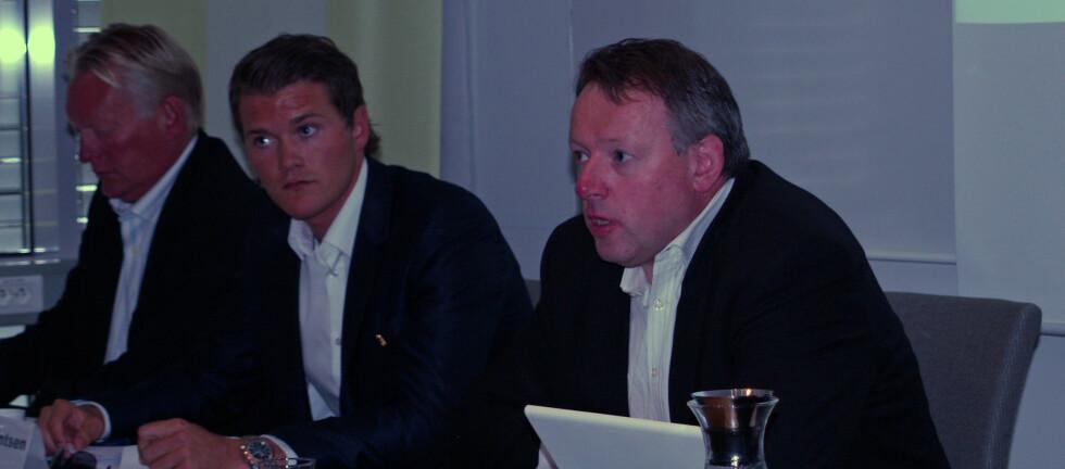 HETT MARKED: EFF la torsdag frem en analyse av hyttemarkedet. Her nestleder Leif J. Laugen, sammen med meglere Eivind Berentsen i ABCenter og Geir Winther i DnB NOR.    Foto: Colourbox.com