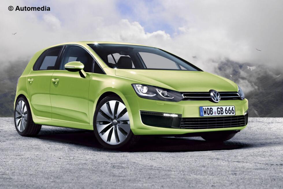 Neste VW Golf skal stå klar sent i 2012. Dette er Automedias digitaliserte visuelle prognose basert på (fullt lovlig!) spionasjeaktivitet, innsiderinformasjon, data og bransjekunnskap. Foto: Automedia