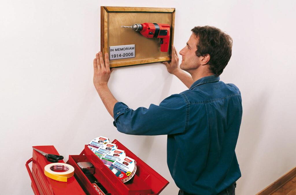 Du kan nok ikke pensjonere drillen, men du må gjerne erstatte den med tape - gitt at forholdene er riktige. Foto: Tesa