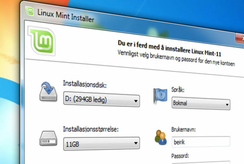 Brenn CD-en og installer Linux Mint i Windows. Her forklarer vi deg hvordan du går fram.