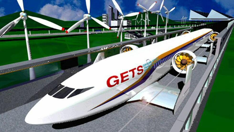 Slik ser Tohuko University for seg at fremtidens flytog ser ut. Foto: Tohuko University