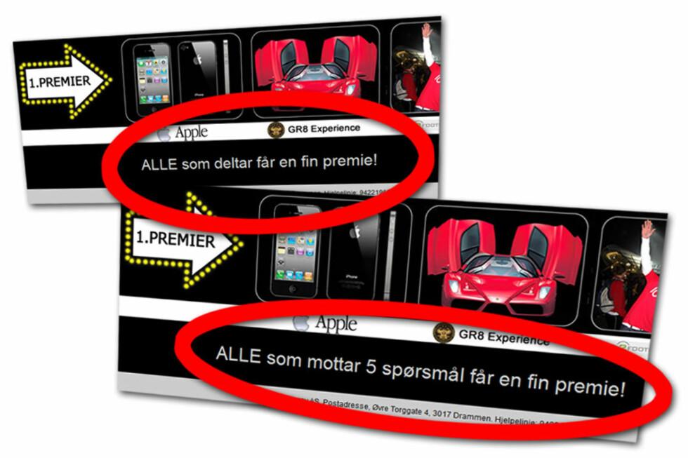 ENDRET: Etter at DinSide snakket med folkene bak har denne teksten blitt endret.  Foto: Ole Petter Baugerød Stokke