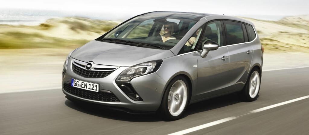 Nye Zafira Tourer ligger svært tett opptil konseptbilen som ble vist tidligere i år Foto: Opel