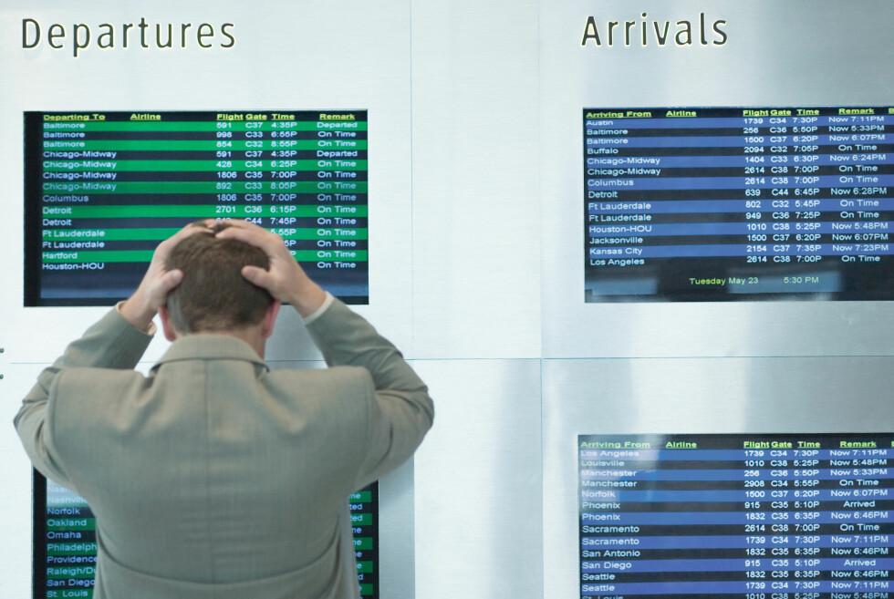FORSINKET: Du har krav på enkelte rettigheter ved forsinkelse, og bør klage hvis flyselskapet ikke oppfyller disse. Foto: Colourbox.com