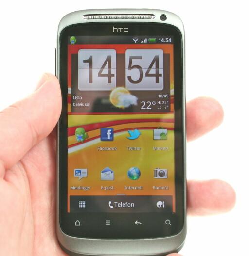 """GIR MENING: Sense-skallet som HTC legger """"over"""" Android blir bedre og bedre. Foto: Øivind Idsø"""