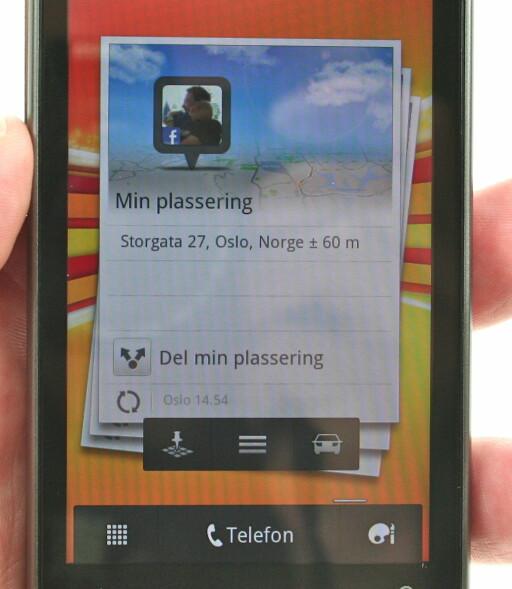 WIDGET: Karttjenesten kommer også med en elegant widget. Foto: Øivind Idsø