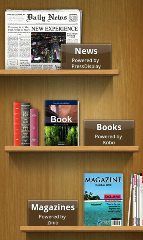 Readers Hub lar deg lese aviser, bøker og magasiner på telefonen. Foto: Pål Joakim Olsen
