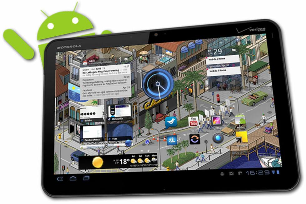 """GOD VENN: Motorola Xoom med Android 3.0 """"Honeycomb"""" har gitt oss mange gode apps de første ukene.  Foto: Ole Petter Baugerød Stokke"""