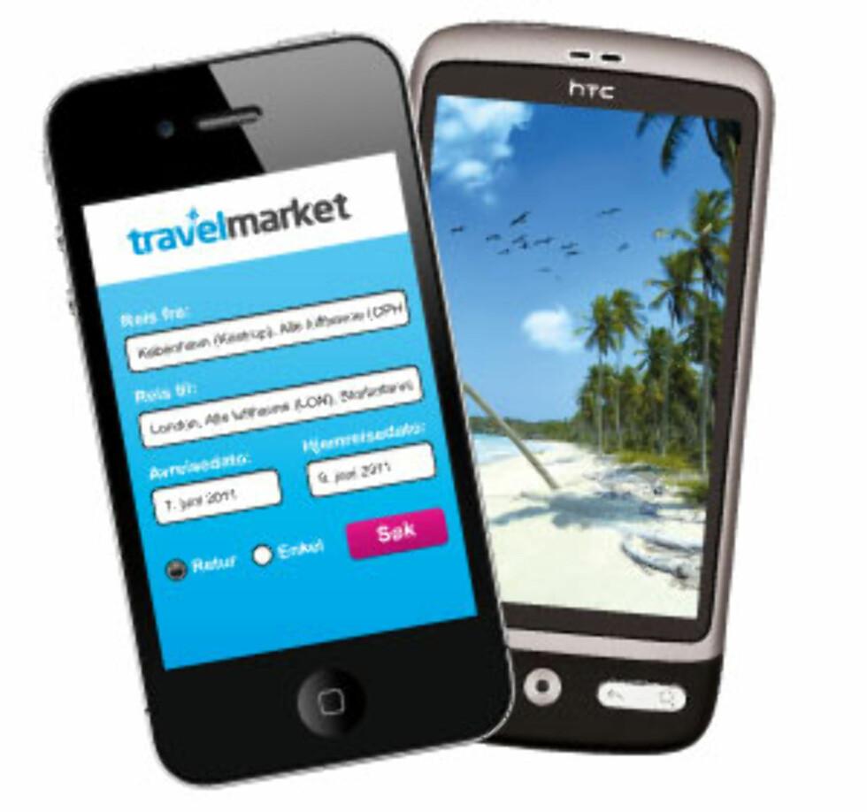 Slik ser appen ut. Foto: Travelmarket.no