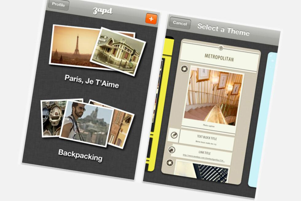 Med Zapd kan du lage en nettside på få strakser og deretter poste bilder, lenker og tekst direkte til den.