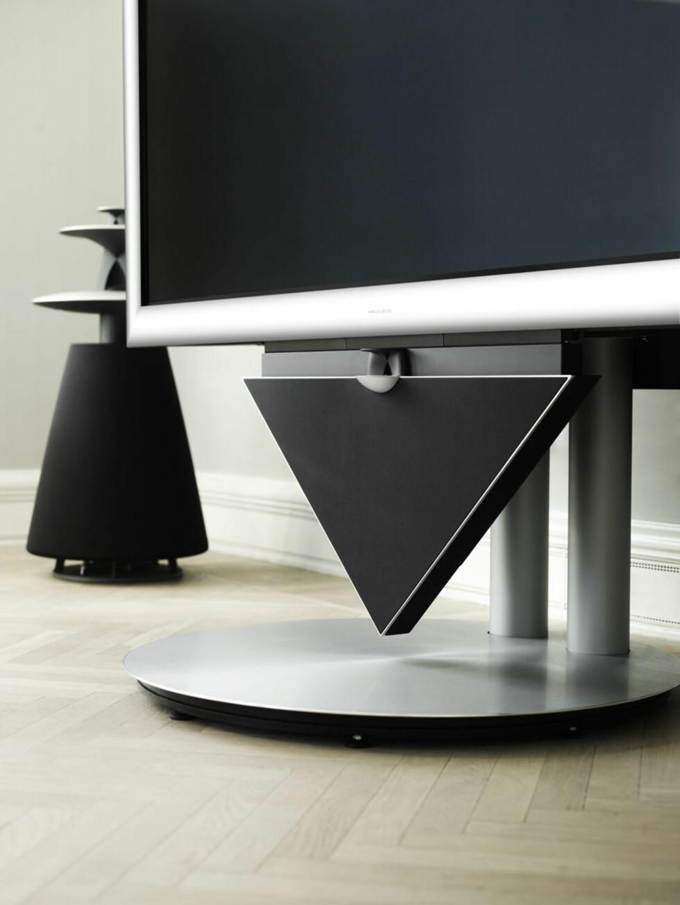 Den integrerte centerhøyttaleren BeoLab 10 sørger for god TV-lyd. Foto: Produktbilder B&O