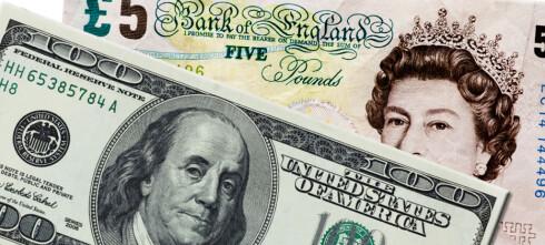 Britisk pund og amerikansk dollar på billigsalg