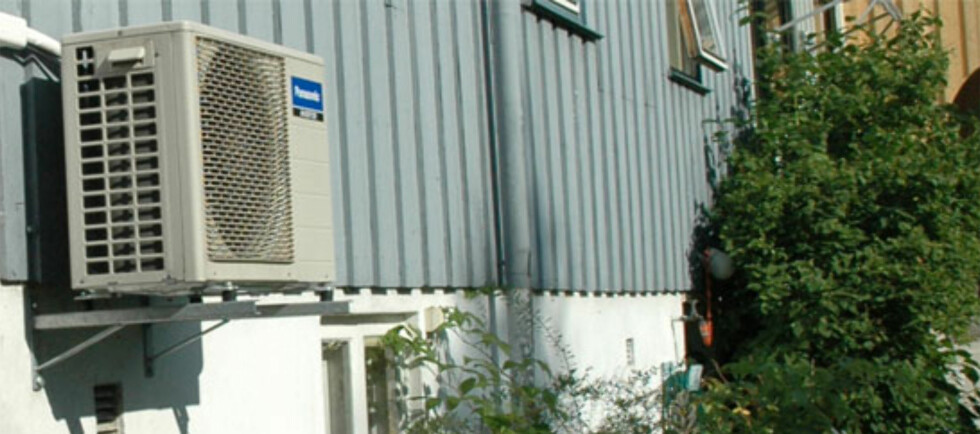 VANLIG: varmepumpa blir stadig vanligere, og gir strømsparing - for noen.