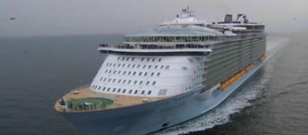 Imponerende svær. MS «Allure of the Seas» har plass til 8.000 mennesker!