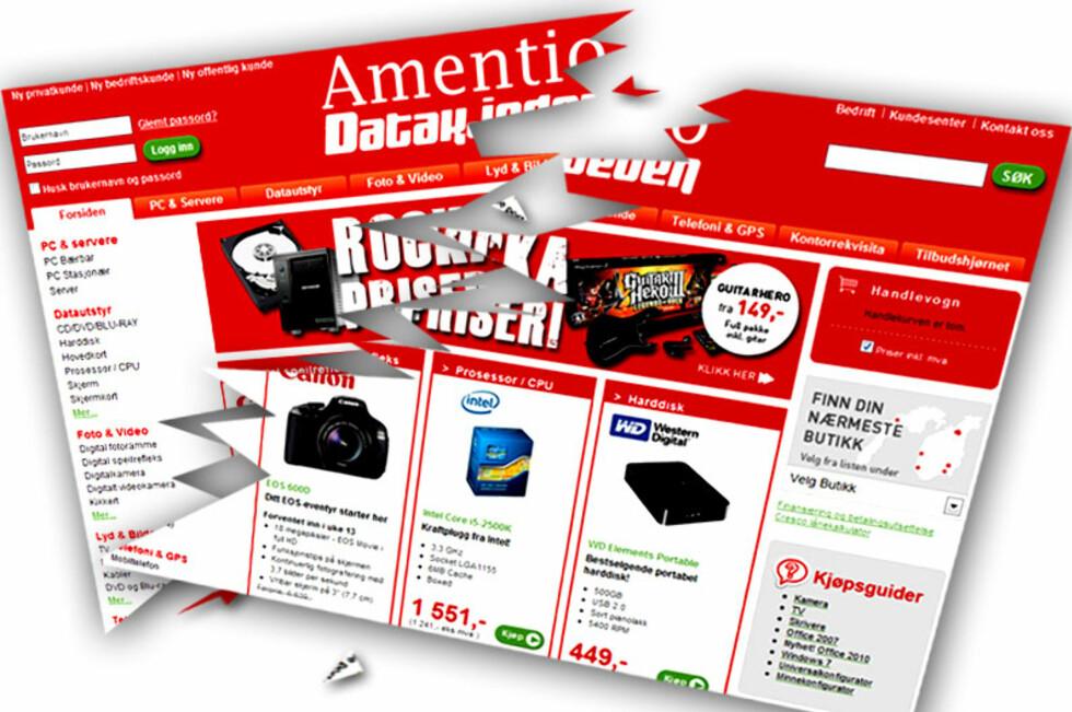 KONKURS: Amentio Datakjeden har nå slått seg selv konkurs. Hva som skjer videre nå er usikkert.  Foto: Ole Petter Baugerød Stokke