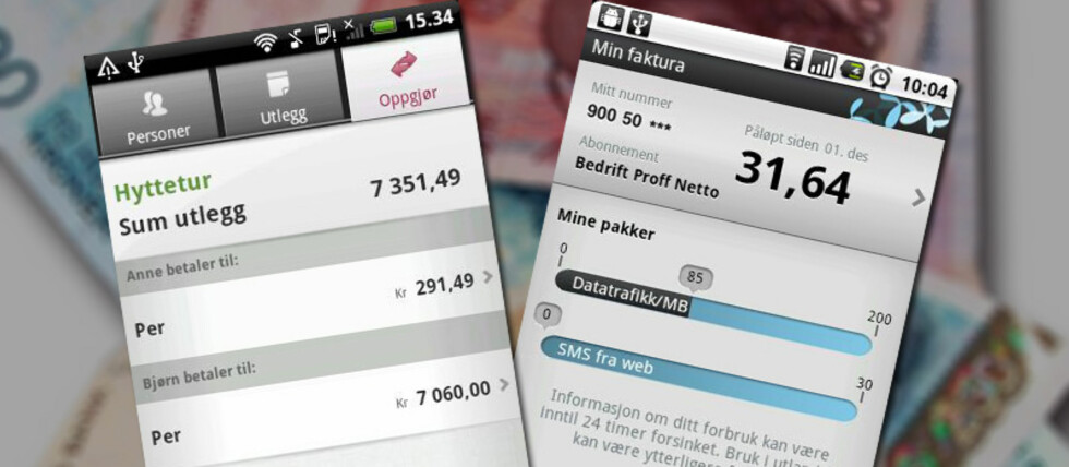 DnB NOR og Telenor har begge Android-applikasjoner som gir deg greiere oversikt over egen økonomi.
