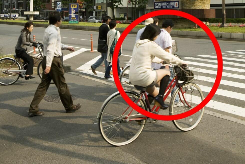 Pleier du å sykle over gangfeltet? Det bør du ikke gjøre, mener Syklistenes Landsforening. Foto: Colourbox