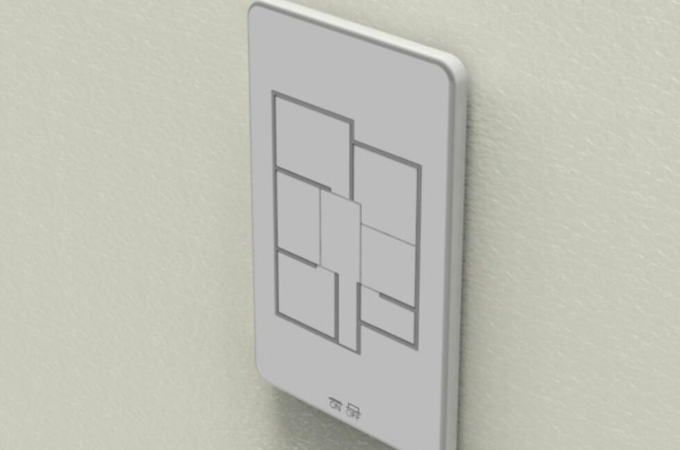 ALT SAMLET: Skru av og på lysene i hvert enkelt rom - uten å gå til rommet.