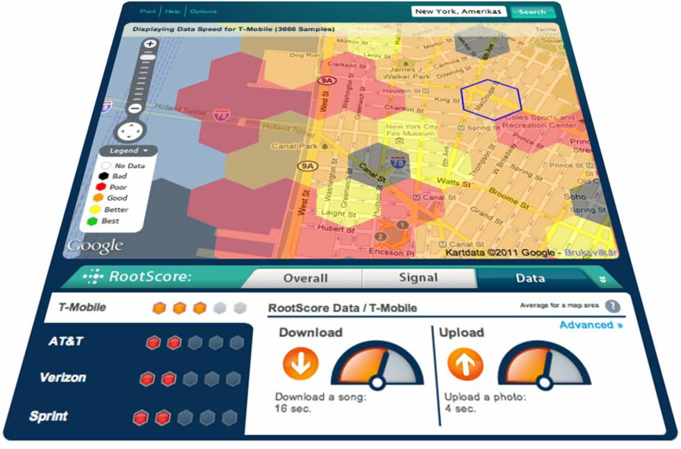 RootMetrics lar brukerne rapportere inn dekningsproblemer og tilgjengeliggjør deretter dataene for alle.