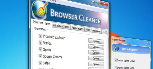 Browser Cleaner fjerner alle spor