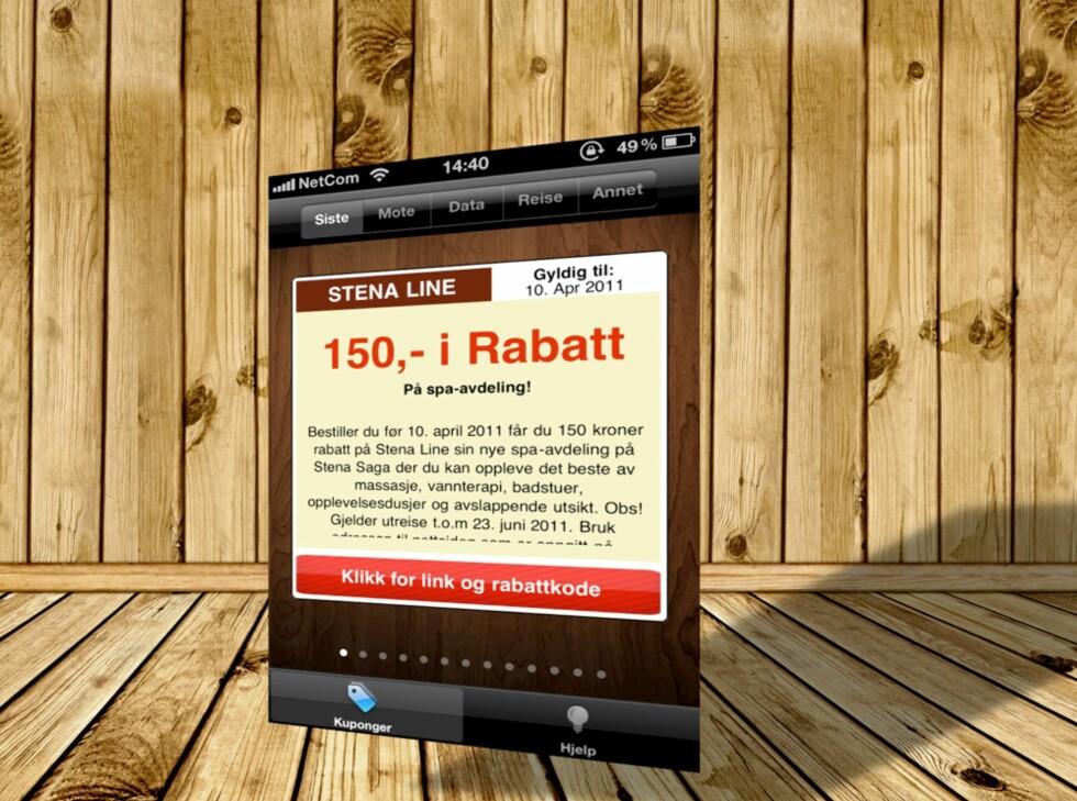 RAAAABATT: KupongPris er navnet på en gratis iPhone app som samler rabatter fra diverse norske nettbutikker på ett og samme sted.