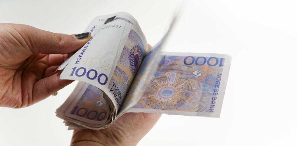 Gjennomsnittlig månedslønn økte med 4 prosent fra 2009 til 2010. Foto: Per Ervland