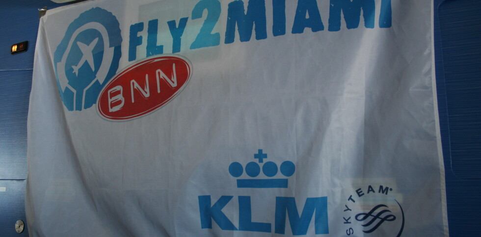 Den utradisjonelle KLM-flyvningen til Miami gikk ikke upåaktet hen. Mandag starter direkteflyvningene for fullt. Foto: Kristina Picard