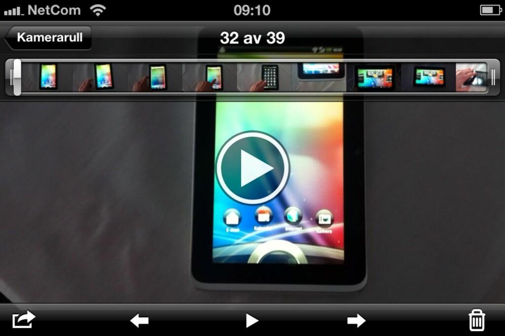 image: Slik roterer du iPhone-videoen