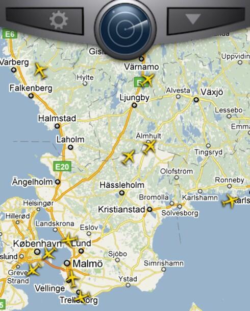 MED DEG OVERALT: Med både Android og iOS-app kan mobilbrukere sjekke hvilke fly som befinner seg hvor også når de er på farten.