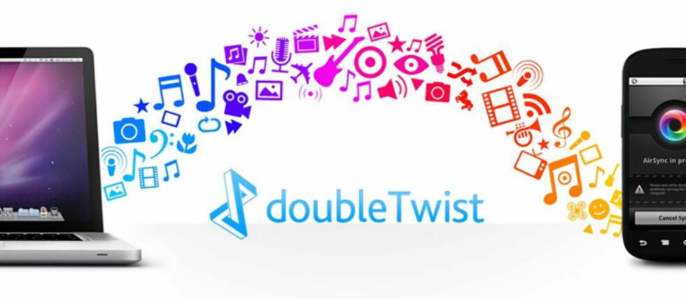Med doubleTwist AirSync kan du overføre bilder, video og musikk mellom mobiltelefonen og PC-en, og også vise innhold fra mobiltelefonen direkte på Xbox 360 og PlayStation 3.