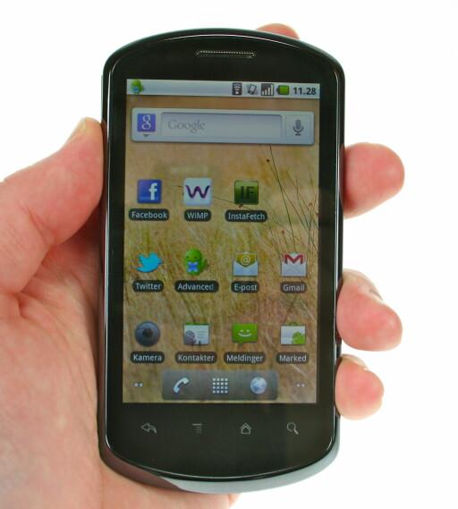 HELT BASIC: Og bra er det. Vi liker nemlig at Huawei kjører Android i originalversjon.