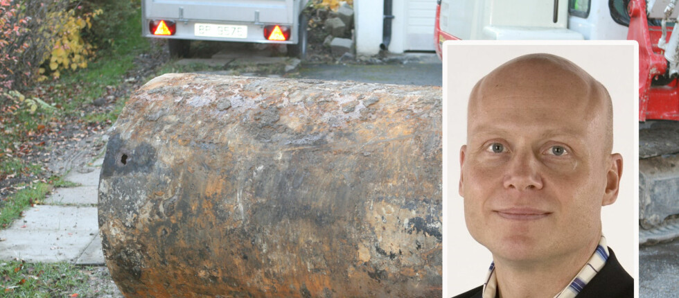 Lekkasje fra denne oljetanken i Frode Uglands hage påførte skader for rundt 500.000 kroner.  Foto: Frode Ugland/Per Ervland