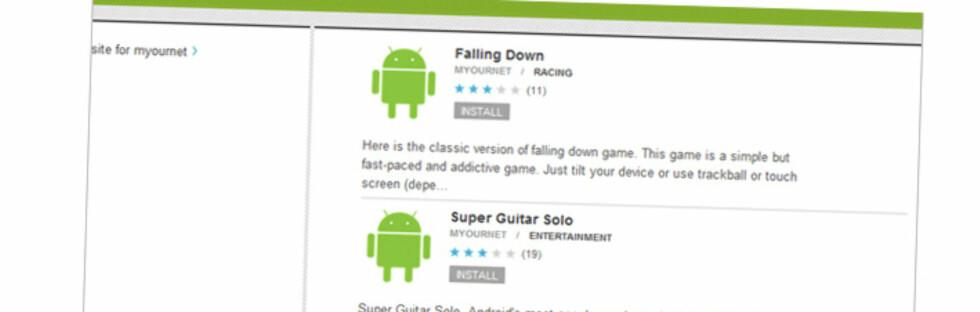 Google fjerner applikasjoner fra Android Market