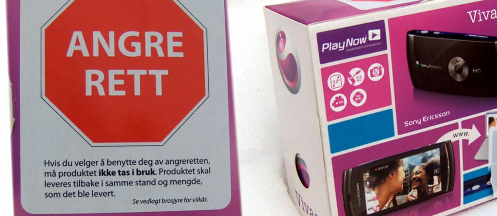 Netcom sier du ikke kan ta produktet i bruk om du skal benytte deg av angreretten. Men Forbrukertvistutvalget har kommer frem til at du har full rett til å teste ut telefonen før du eventuelt sender den tilbake. Foto: Arild Jansson