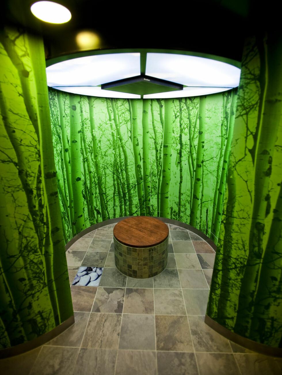 Et venterom med fin utsikt. Foto: Per Ervland