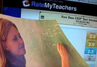 Her gir elevene karakterer til lærerne