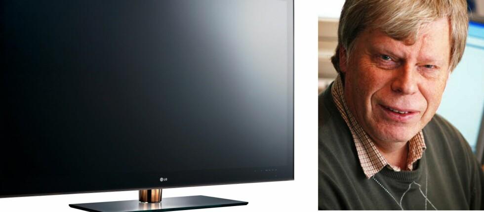Den norske gjennomsnittsTV-en blir større og større, ifølge Erik Andersen i Elektronikkbransjen. Her kan du se LGs 72-tommers store LED-TV. Foto: Produsenten/Elektronikkbransjen