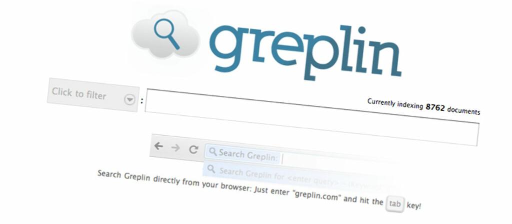 Koble dine nettkonti til Greplin og få ett søkefelt for alle tjenestene.